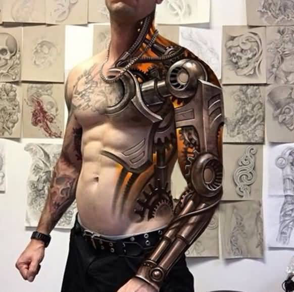35 Most Realistic 3D Tattoos That You've Never Seen Before