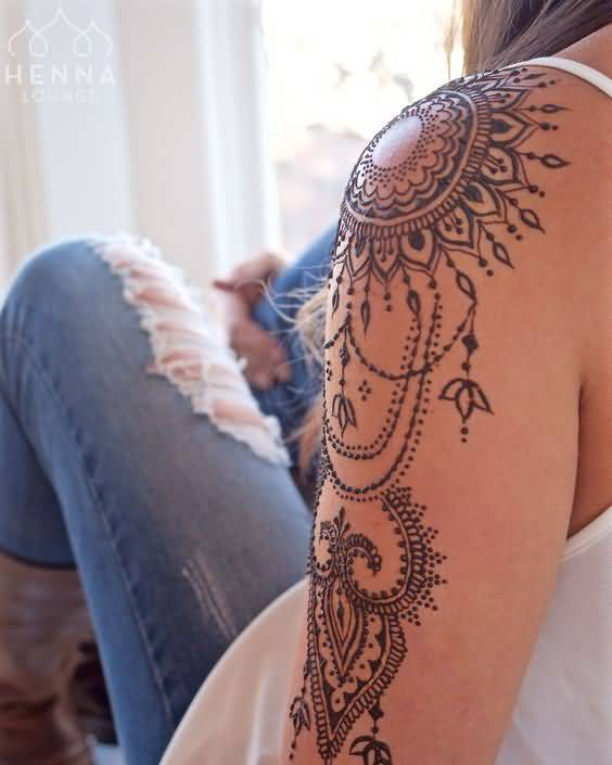 Henna Shoulder Tattoo Designs: 40 Best Henna Tattoo Designs And Meanings That Are