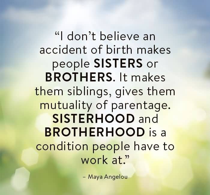Bond quotes sibling 101 Sweet